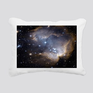 Deep Space Nebula Rectangular Canvas Pillow